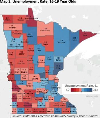 Map 2 Unemployment 16-19