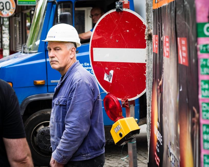 Bauarbeiter, Einbahnstraße