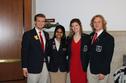 Danny Sertich on the far right along with Minnesota DECA State Officers.